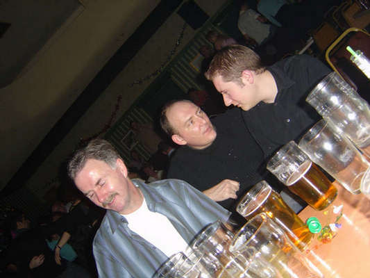 Gordon, Mark and Neil  (taken from the '2003 DWP Christmas Party gallery' - 19th December 2003)