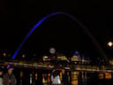 The Gateshead Millenium Bridge at night